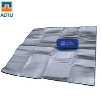 almohadilla de aluminio al por mayor-AOTU Nuevo 200 * 200 cm Respaldo de Aluminio Aislante Aislante Espuma Estera Colchoneta Cojín para Acampar Senderismo Envío Gratis