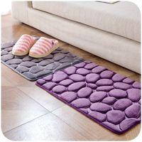 Wholesale fleece textiles - 2018 Coral Fleece Bathroom mats Memory Foam floor Rug bathroom kitchen Non-slip Mats Floor Carpet Set Mattress Bathroom mats