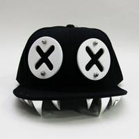 ingrosso cappelli acrilici rivetti-Cappelli Hipk punk Devil Monster Dental Berretti Snapback in osso acrilico Berretto da baseball Rivet Ockstar per uomini e donne Bone Aba Reta