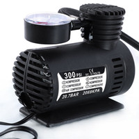 Wholesale 12v dc mini pump - Mini DC 12V Electric Car Auto Inflatable Pumping Air Pumps Compressor 300 PSI for Bicycle Motorcycle