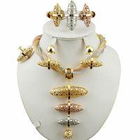 takı setleri toptan satış-Gelin takı seti süper kalite afrika büyük takı setleri en kaliteli kostüm altın seti kadın kolye düğün setleri