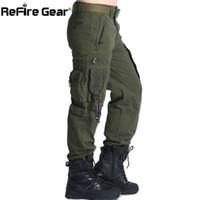 equipo de combate táctico militar al por mayor-ReFire Gear SWAT 101 Airborne Army Pants Hombres US Security Combat Tactical Cargo Pants Algodón Casual Many Pocket Military Trousers