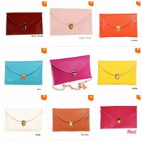 Envelope Type Chain Purse Classic Multi Colors Shoulder Bags For Women PU  Leather Clutch Handbags Hot Sale 6sl BB ab55dfe677605