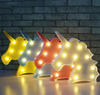 appliques murales pour enfants achat en gros de-Mignon Led Veilleuse Animal Marquee Lampes Sur Le Mur Pour Enfants Partie Chambre Décor De Noël Enfants Ro