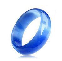 Wholesale tibet silver blue jade resale online - Sky Blue Opal Agate Bangle Korean Fashion Girl Gift