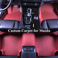 Wholesale mazda lincoln - Wholesale Custom Car Floor Mats for mazda cx-5 cx7 cx-9 mx-5 3 5 6ATENZA 3D Luxury Carpets Alfombra Coche Tapete Carro