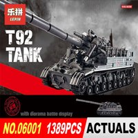 Wholesale tank models toys - XingBao 06001 1389Pcs Creative MOC Military Series The T92 Tank Set Children Education Building Blocks Bricks Toys Model Gift