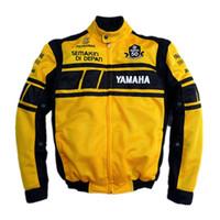 jaquetas de moto de malha de verão venda por atacado-Motocicleta jaqueta de equitação de verão jaqueta de motocross de malha de corrida com cinco conjuntos de equipamentos de proteção amarelo