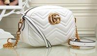 italyan deri çanta toptan satış-Moda Lüks Tasarımcı Çanta Yüksek Kalite Sevgililer İtalyan Hakiki Deri Çanta Perçin Zincir Kadınlar Için Crossbody Çanta Omuz Çantaları