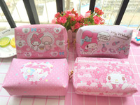 37de510a2ff1b Wholesale-5 Pcs Cartoon Hello Kitty My Melody Twin Stars Lady Small Size  Travel Cosmetic Sundries Storage Zipper Bag Organizer
