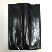 bazin tuch großhandel-Schwarze Farbe Mali handgefertigte afrikanische Art Guinea glänzend Brokat Damast Stoff Bazin Riche Stoff für Tuch Kleid 40