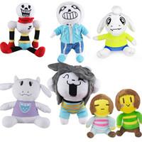 Wholesale undertale plush sans online - Undertale Plush Stuffed Toys cm Cartoon Sans Papyrus Asriel Toriel Temmie Chara Frisk Doll Creative Children Collection Gift cs YY