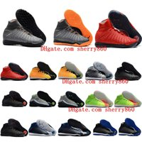 Wholesale hypervenom tf resale online - 2018 hot mens indoor soccer shoes hypervenom Proximo soccer cleats HypervenomX Proximo II DF TF IC boots size