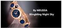 edle quarzuhr großhandel-Neue Ankunft Edle Blaue Frauen Armband Uhren MELISSA Elegante Dame Party Aussage Uhr Quarz Schmuck Reloj Montre Femme F8233