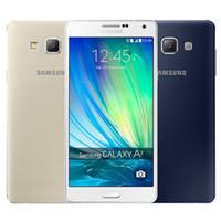Wholesale a7 4g - Refurbished Original Samsung Galaxy A7 A7000 Dual SIM 5.5 inch Octa Core 2GB RAM 16GB ROM 13MP Camera 4G LTE Unlocked Mobile Phone DHL 1pcs