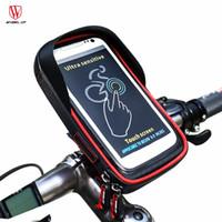 porta de telefone à prova d'água venda por atacado-RODA PARA CIMA Bicicleta Bag Phone Phone Screen Phone Holder Titular Sacos de Guiador Da Bicicleta MTB Bicicleta Quadro Bolsa Bag À Prova D 'Água Para GPS