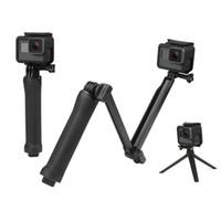 cámara gopro hero al por mayor-Impermeable Monopod Selfie Stick para Gopro Hero 5 4 3 Sesión ek7000 Xiaomi Yi 4K Trípode para cámara Go Pro Accesorio