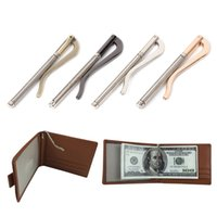 кошельки оптовых-THINKTHENDO Metal Bifold Money Clip Bar Wallet Replace Parts Spring Clamp Cash Holder