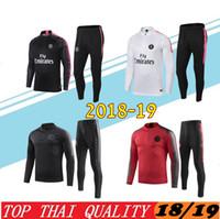Wholesale Psg adult Soccer tracksuit set Paris tracksuits MBAPPE CAVANI LUCAS HOME Football jacket kit Training suit Football Chándal