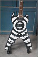 gitarrenkörper zakk wylde großhandel-Brand New Zakk Wylde Flying V Modell E-Gitarre mit Mahagoni Korpus und Palisander Griffbrett