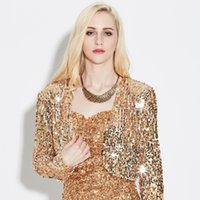Wholesale Sequin Tops For Women - Women Gown Fashion Party for Evening Dress and Stage Dress Wear 2 Pieces Dress and Tops