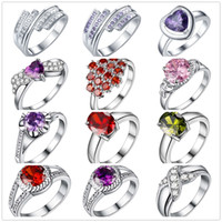 Wholesale 925 sterling ring price - Low Price Wholesale 925 Sterling Silver Plated Zircon Finger Ring Fashion Party Jewelry For Women Wedding Gifts Mixed Size 6# 7# 8#