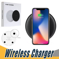 Wholesale Qi Wireless Charger Pad Eu - Fast Qi Wireless Charger For iPhone X 8 Plus Samsung Note 8 S8 S9 Plus S7 edge 5V 2A 9V 1.67A Quick Charger Charging Pad With Retail Package