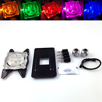 Wholesale Water Cpu - Bykski CPU-XPH-B CPU Water Cooling Block with LED Light For AMD AM2 AM3 AM4 FM1 2 Series Platform