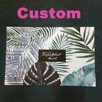 Wholesale pvc mat custom for sale - Custom PVC Teslin Green Western Restaurant Placemat Insulation Pad Coaster Bowl Mats Table Mats Solid Color Stripes Field Characters RE8756