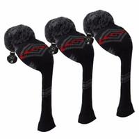 ingrosso testa astratta-Scott Edward grigio rosso nero modello astratto Golf Head copertine, filati in acrilico doppio strato a maglia
