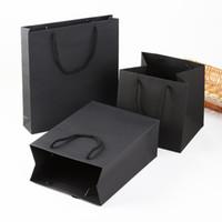 joyería formal al por mayor-Bolsas de papel Kraft bolsas de regalo de joyería con manija Compras Grocery Party bolso de regalo en ocasiones formales