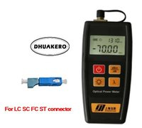 Wholesale fc optical connector - free shipping AB22B YJ350A C mini small FTTH Fiber Optical Power Meter -70 + 10dBm FC SC LC ST connectors with SC-LC adapter