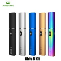 construction électronique achat en gros de-Authentique Airis 8 Kit Dab Dip 2 En 1 Wax Vape Pen Vaporisateur Intégré 400mAh VV Batterie Nectar Collecteur Électronique Véritable