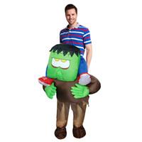 neue aufblasbare frau großhandel-Neue Erwachsene aufblasbare Horrible Fahrt auf Frankenstein Monster Kostüm Halloween Cosplay Outfit Halloween Kostüm für Frauen