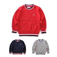 Wholesale boys pullover sweaters resale online - 2019 Fashion Brand kids Sweater baby clothes High Quality Spring autumn winter School Boy And Girls Children polo outerwear AJ Sweaters