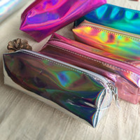 Wholesale Holographic Bags - Osmond 1 PCS Cosmetic Bag Women Make-up Cases Hologram Laser Cosmetic Cases Holographic Leather Storage Pouch Lady Makeup Purse