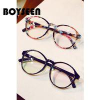 f6a20e84e0 BOYSEEN Fashion Eyeglasses Prescription Glass Frame Women Round Glasses  Frame Myopia Optical Optical glasses 2163