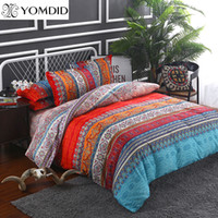 Wholesale black full beds online - Bohemian bedding sets Mandala duvet cover set Flat sheet Pillowcase Twin Full Queen king size bedding set bed linens