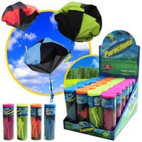 ingrosso paracadute del giocattolo-All'ingrosso- Mini Parachute Toy 4 colori Kids Soldier Toy Sport all'aria aperta Divertimento Bambini Sviluppo di intelligenza Giocattoli educativi