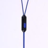 kulaklık kulak tıkaçları toptan satış-3.5mm Stereo Fiş 110 cm Örgülü Tel Subwoofer Kulaklık Kulak Örgülü Halat Tel Kumaş Earplug Gürültü Izole Kulaklık Dahili Mic