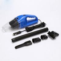 aspiradores de mini coches al por mayor-Accesorios de Automóviles Portátil 5 M 120 W 12 V mini Aspirador de Coche de mano Mini Súper Succión Húmedo y Seco de Doble Uso Vaccum Cleaner Gratis