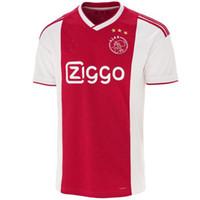 aa45176a8 Ajax home red white Jersey de fútbol 18 19 Ajax away Camiseta de fútbol 2019  Customized   9 HUNTELAAR   34 NOURI   24 DOLBERG uniformes de fútbol