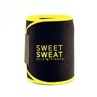 ingrosso giallo shapewear-Unisex Uomo Donna Fitness Sweat regolabile Vita Trimmer Mezzo Vita Shapewear Cintura dimagrante - Rosa Nero Giallo M L