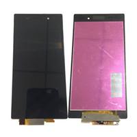 pantalla xperia z1 al por mayor-NUEVO Pantalla LCD Digitalizador de Pantalla Táctil Para Sony Xperia Z1 L39h C6903 C6906 Negro Blanco Con Vidrio Templado DHL logística