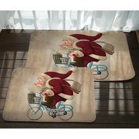 Wholesale coral bath rugs mats for sale - Group buy Modern Miracille Christmas Door Mat Cute Santa Claus Printed Indoor Outdoor Floor Rugs Rectangle Thick Coral Velvet Non slip Bath Mat