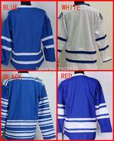 logo vierge jersey de hockey achat en gros de-Maillot de hockey sur glace blanc en gros des hommes authentiques en gros de Toronto blanc bleu 3ème hiver classique, logo de broderie, S ~ XXXL, ordre de mélange