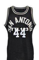 Wholesale road games - Men 1984 George Gervin Game-Used Road Mesh fabric Full embroidery College jersey Size S-4XL or custom any name or number College jersey