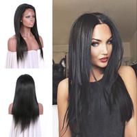 beste jungfrau-perücken großhandel-Meistverkaufte Produkte Brasilianische Stright Lace Front Perücken Virgin Huamn Haar Nicht verarbeitet Kann gefärbt werden Günstige G-EASY