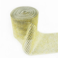 Wholesale ribbon belts diamonds resale online - 24 Row Crystal Mesh Colour Diamond Electroplate Hollow Drill Rhinestone Ribbon Romantic Blink Wedding Party Adornment Belt Articles ms UU