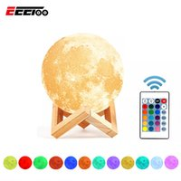 Wholesale pvc bulb for sale - Rechargeable LED Table Lamp D Moon Lamps Colors Bedside Lamp Dimmable Home Decor Luminaria Night Table Light For Kid Bedroom